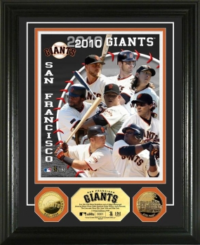 San Francisco Giants 2010 Team 24KT Gold Coin Photo Mint