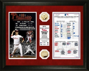 Roy Halladay No Hitter Line-Up Card 24KT Gold Coin Photo Mint