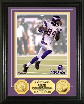 """Randy Moss """"Vikings"""" 24KT Gold Coin Photo Mint"""