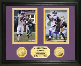 Randy Moss Then & Now 24KT Gold Coin Photo Mint