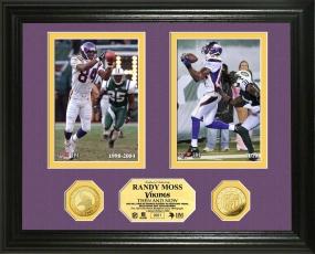 "Randy Moss ""Then & Now"" 24KT Gold Coin Photo Mint"
