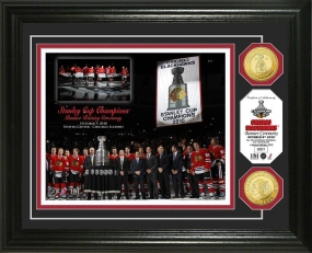 Chicago Blackhawks Banner Raising 24KT Gold Coin Photo Mint