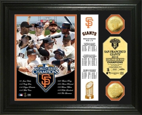 San Francisco Giants 2010 World Series Champions 24KT Gold Coin Banner Photo Mint