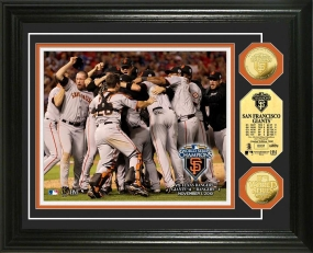 San Francisco Giants 2010 World Series Champions Celebration 24KT Gold Coin Photo Mint