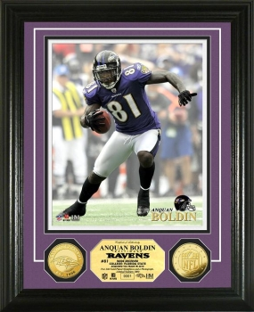 Anquan Boldin 24KT Gold Coin Photo Mint