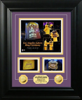 Los Angeles Lakers 2010 Ring Ceremony Marquee Photo Mint
