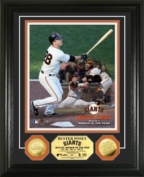 Buster Posey '10 N.L ROY 24KT Gold Coin Photo Mint