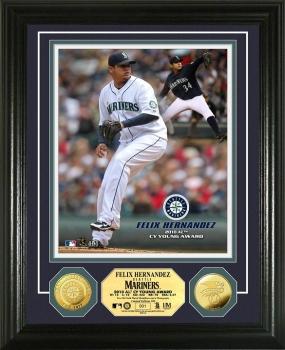 Felix Hernandez '10 AL Cy Young Award Winner 24KT Gold Coin Photo Mint