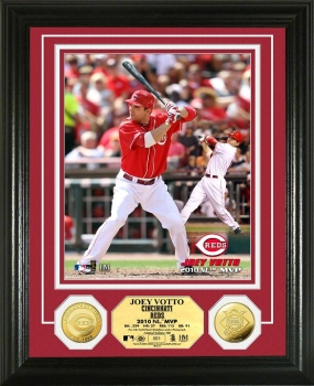 Joey Votto '10 N.L MVP 24KT Gold Coin Photo Mint