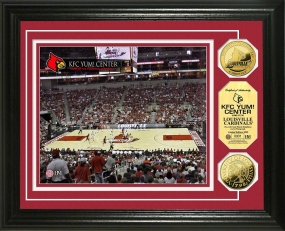 University of Louisville KFC YUM! Center 24KT Gold Coin Photomint