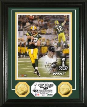 Super Bowl XLV MVP 24KT Gold Coin Photo Mint