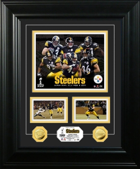 Pittsburgh Steelers Super Bowl XLV Marquee 24KT Gold Coin Photo Mint