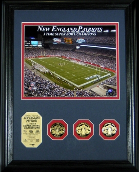 New England Patriots 3 Time Super Bowl Champs Photomint