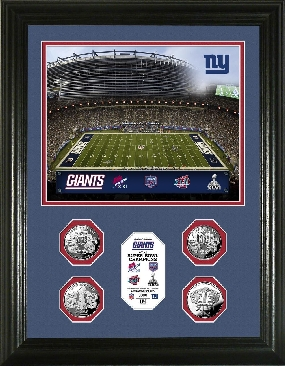 New York Giants 4-time Super Bowl Champions 24KT Gold Coin Photo Mint