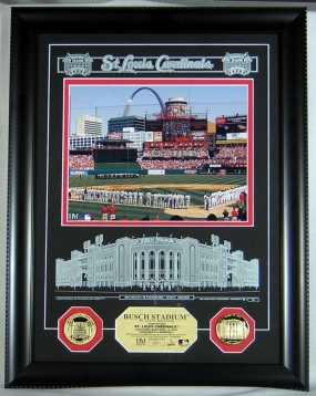 New Busch Stadium Archival Etched Glass Photomint
