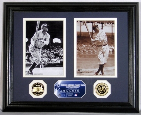 Babe Ruth Photomint with 2 Gold Coins