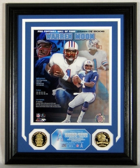 Warren Moon Hall of Fame Photomint