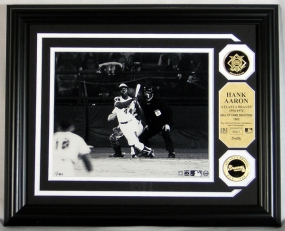 Hank Aaron Hall of Fame Photo Mint