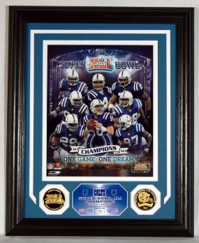 Colts SBXLI Champions Collage Photo Mint