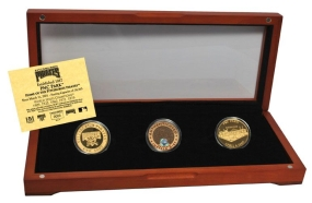PITTSBURGH PIRATES 24kt Gold and Infield Dirt 3 Coin Set
