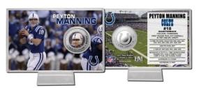 Peyton Manning Silver Coin Card