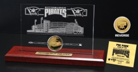 PNC Park 24KT Gold Coin Etched Acrylic
