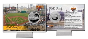 PNC Park Silver Plate Coin Card