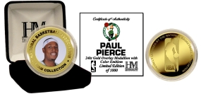 Paul Pierce 24KT Gold and Color Coin