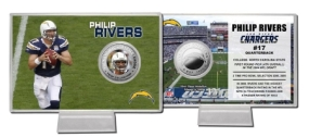Philip Rivers Silver Coin Card
