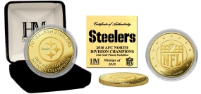 Pittsburgh Steelers '10 AFC North Division Champions 24KT Gold Coin