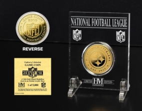 Pittsburgh Steelers 24KT Gold Game Coin