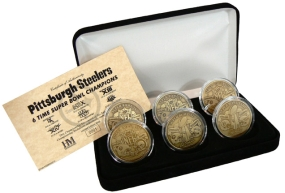 Pittsburgh Steelers Super Bowl XLIII Champions Bronze 6 Coin Set