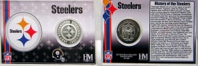 Pittsburgh Steelers Team History Silver Coin Card