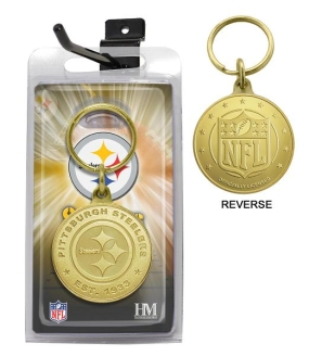Pittsburgh Steelers Bronze Bullion Keychain
