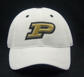 Purdue Boilermakers White Elite One Fit Hat