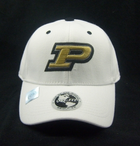 Purdue Boilermakers White One Fit Hat