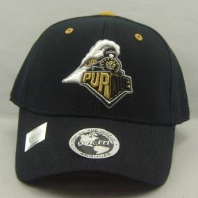 Purdue Boilermakers Black One Fit Hat