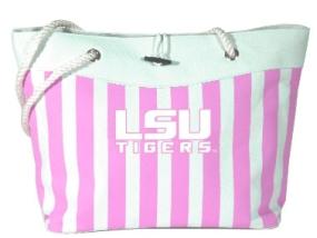 LSU Tigers Pink Cabana Tote