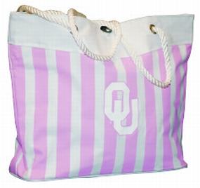 Oklahoma Sooners Pink Cabana Tote