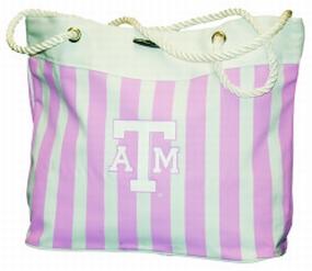 Texas A&M Aggies Pink Cabana Tote