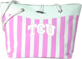TCU Horned Frogs Pink Cabana Tote
