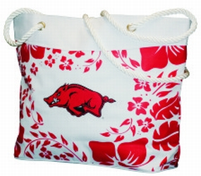 Arkansas Razorbacks Hibiscus Tote