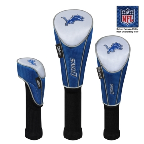 Detroit Lions Set of 3 Golf Club Headcovers