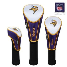 Minnesota Vikings Set of 3 Golf Club Headcovers