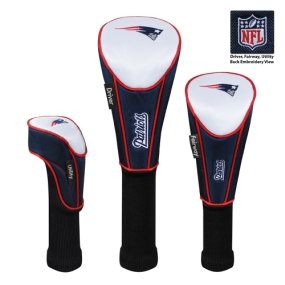New England Patriots Set of 3 Golf Club Headcovers