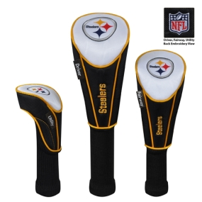 Pittsburgh Steelers Set of 3 Golf Club Headcovers
