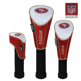 San Francisco 49ers Set of 3 Golf Club Headcovers