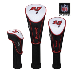 Tampa Bay Buccaneers Set of 3 Golf Club Headcovers