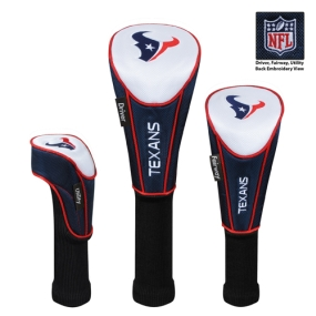 Houston Texans Set of 3 Golf Club Headcovers