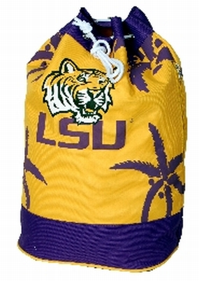 LSU Tigers Palm Tree Vertical Duffel